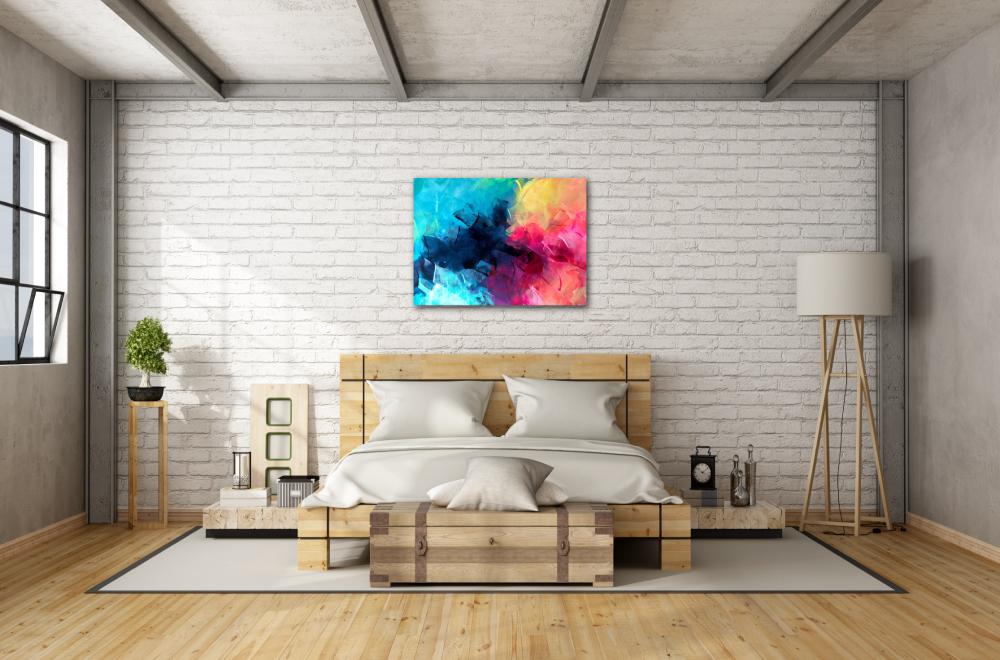 chambre à coucher en bois avec rangements